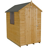 Forest Golden Brown Shiplap Apex Wooden Shed - 4x6ft