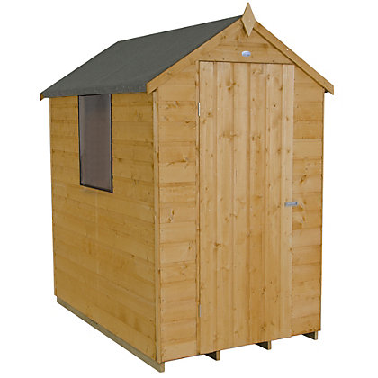 Image for Forest Golden Brown Shiplap Apex Wooden Shed - 4x6ft from StoreName