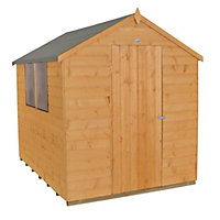 Forest Golden Brown Shiplap Apex Wooden Shed - 6x8ft