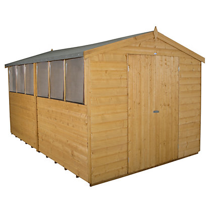 Image for Forest Shiplap Apex Wooden Workshop - 8x12ft from StoreName