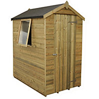 Forest Natural Timber Tongue & Groove Apex Wooden Shed - 4x6ft
