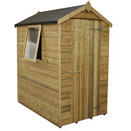 Image for Forest Natural Timber Tongue & Groove Apex Wooden Shed - 4x6ft from StoreName