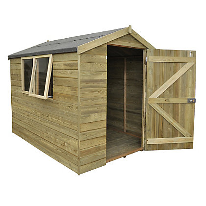 Image for Forest Natural Timber Tongue & Groove Apex Wooden Shed - 6x8ft from StoreName