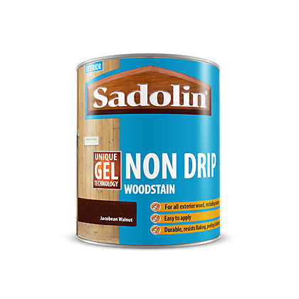 Image for Sadolin Non Drip Woodstain Jacobean Walnut - 2.5L from StoreName