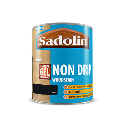 Image for Sadolin Non Drip Woodstain Ebony - 2.5L from StoreName