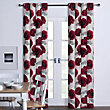 Poppy Floral Print Eyelet Curtains - 90 x 90in