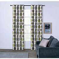 Sopers Leaves Eyelet Curtains - 66 x 72in
