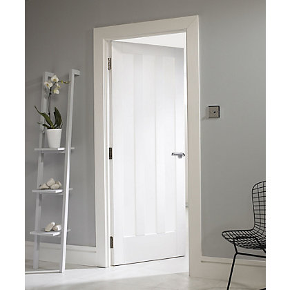Image for Aston 3 Panel Primed Solid Internal Door - 610mm Wide from StoreName