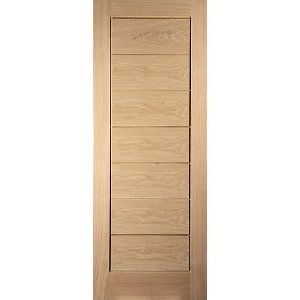 Image for Horizontal White Oak Veneer Internal Door - 762mm Wide from StoreName