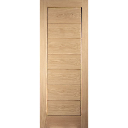 Image for Horizontal 7 Panel White Oak Veneer Internal Fire Door - 726mm Wide from StoreName