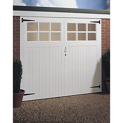 Image for 12 Panel Glazed Timber Side Hung Garage Door - (H) 1981mm x (W) 2134mm from StoreName