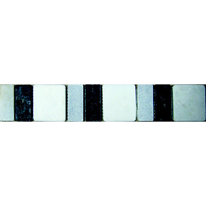 Image for Edinburgh Marble Strip Wall Tiles - Black - 305 x 48mm - 6 Pack from StoreName