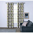 Sopers Leaves Eyelet Curtains - 90 x 90in