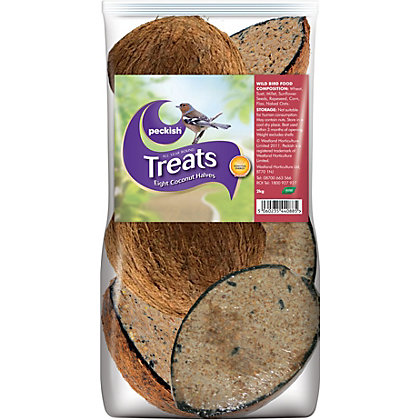 Image for Peckish Coconut Shell Treat - 8 Pack from StoreName
