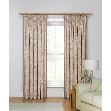 Image for Schreiber Evelyn Putty Lined Curtains - 90 x 90 in from StoreName