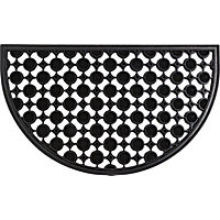 Decorative Rubber Half Moon Mat