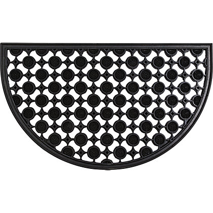 Image for Homebase Decorative Rubber Half Moon Mat from StoreName