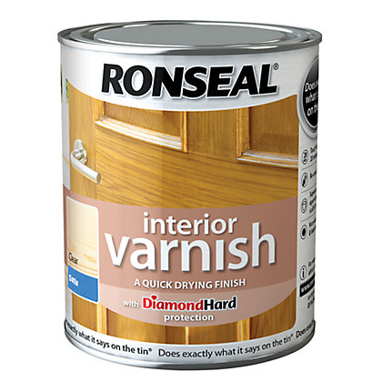 Image for Ronseal Interior Varnish Satin - 750ml from StoreName