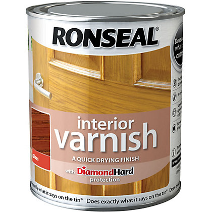 Image for Ronseal Interior Varnish Gloss Medium Oak - 250ml from StoreName