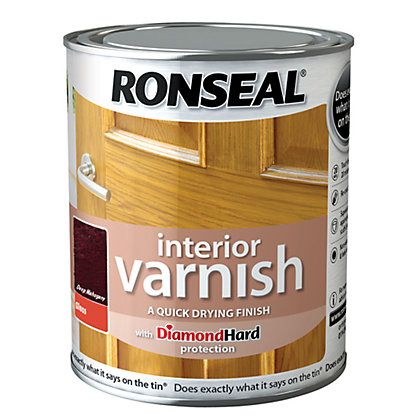 Image for Ronseal Interior Varnish Gloss Deep Mahogany - 250ml from StoreName