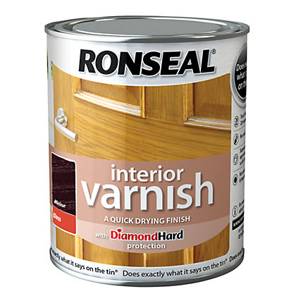 Image for Ronseal Interior Varnish Gloss Walnut - 250ml from StoreName