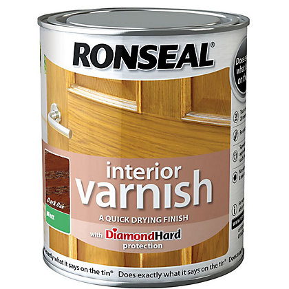 Image for Ronseal Interior Varnish Matt Dark Oak - 250ml from StoreName