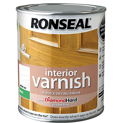 Image for Ronseal Interior Varnish Matt White Ash - 250ml from StoreName