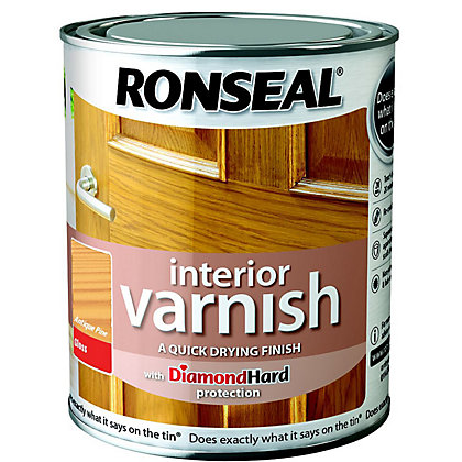 Image for Ronseal Interior Varnish Gloss Antique Pine - 750ml from StoreName