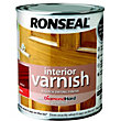 Ronseal Interior Varnish Gloss Walnut - 750ml