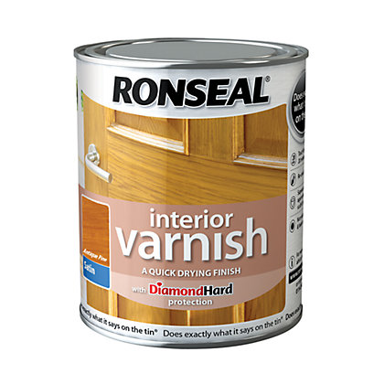 Image for Ronseal Interior Varnish Satin Antique Pine - 750ml from StoreName