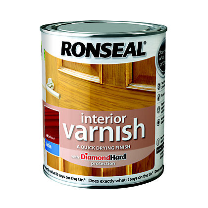 Image for Ronseal Interior Varnish Satin Walnut - 750ml from StoreName