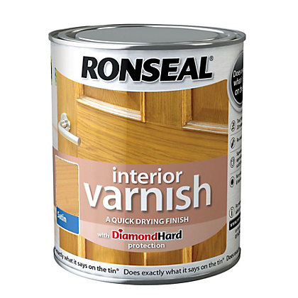Image for Ronseal Interior Varnish Satin Ash - 750ml from StoreName