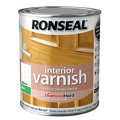Image for Ronseal Interior Varnish Matt White Ash - 750ml from StoreName
