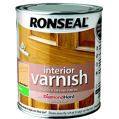 Image for Ronseal Interior Varnish Matt Almond - 750ml from StoreName