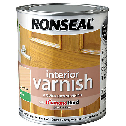 Image for Ronseal Interior Varnish Matt Beech - 250ml from StoreName
