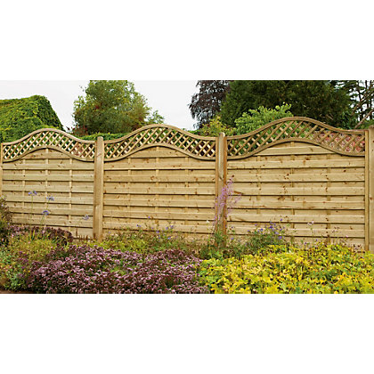 Image for Forest Prague 1.8m Fence Panel - Pack of 10 from StoreName