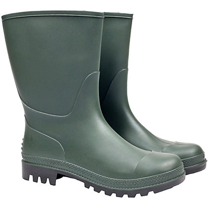 Image for Homebase Traditional 3/4 Wellington Boot in Green- Size 10 from StoreName