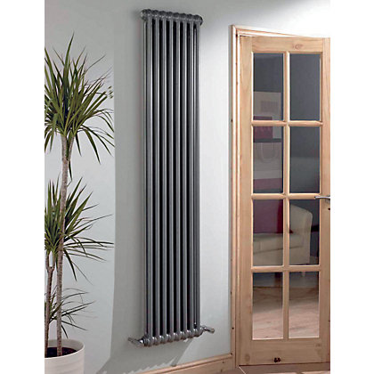 Image for Colonna Verti 2 Column Radiator - Dark Silver - 1802 x 294mm from StoreName