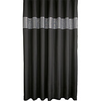 Sequin Shower Curtain - Black