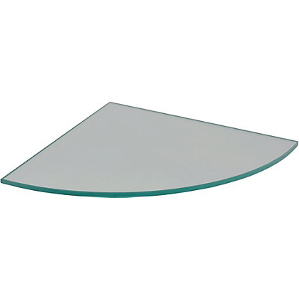 Image for Duraline Glass Corner Shelf - 25cm from StoreName