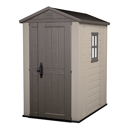 Image for keter plastic factor apex shed 6 x 4ft from for Garden shed homebase