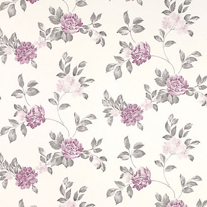 Image for Laura Ashley - Munro - Grape - Wallpaper from StoreName