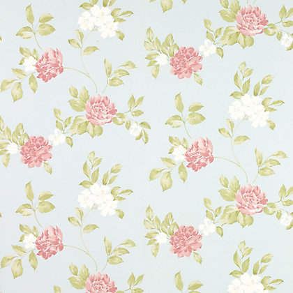 Image for Laura Ashley - Munro - Duck Egg - Wallpaper from StoreName