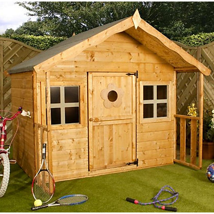 Image for Mercia Lodge Wooden Playhouse from StoreName