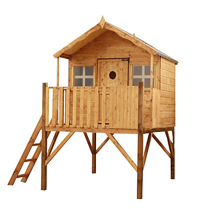 Image for Mercia Lodge Tower Wooden Playhouse from StoreName