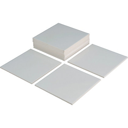 Value Wall Tiles White 150 X 150mm 44 Pack