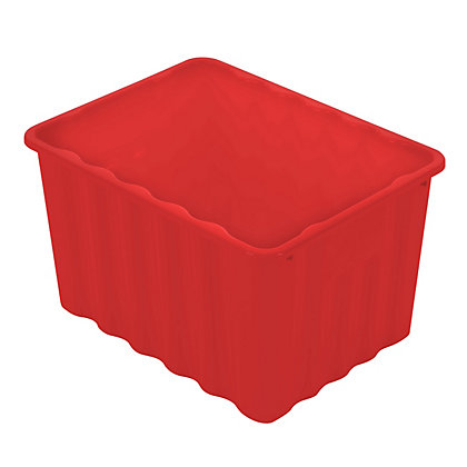 Multipurpose Plastic Storage Box Red