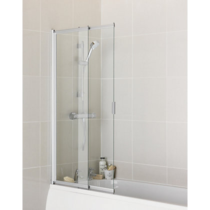 Image for Aqualux 2 Panel Sliding Shower Screen - 4mm Glass from StoreName
