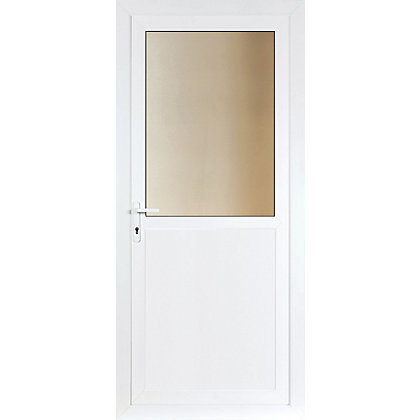 Image for Brighton Clear Glazed Right Hand Hung Rear Door Set - 840mm Wide from StoreName