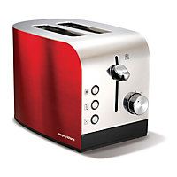 Morphy Richards 44206 Accents 2 Slice S/Steel Toaster - Red.